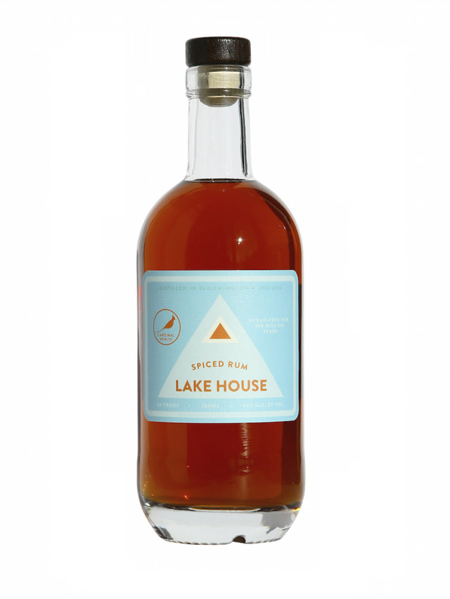 bottle of lake house spiced rum