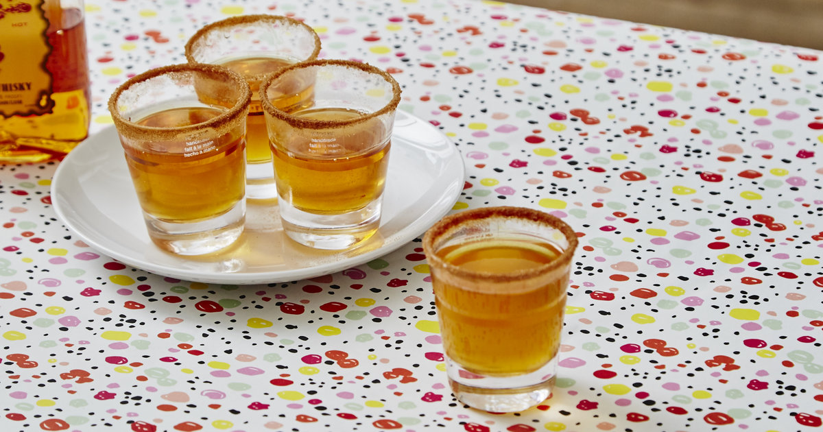Apple Pie Shot Recipe Apple Cider And Fireball And Shots Supercall